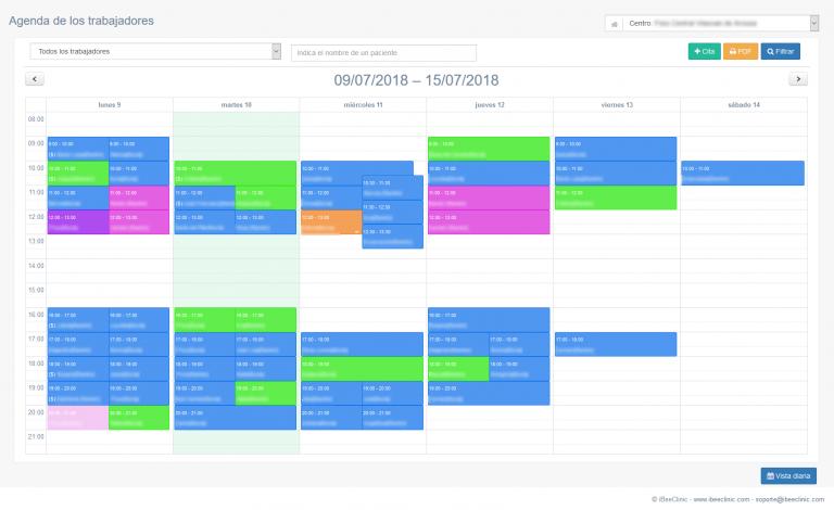 agenda-semanal-software-de-gestion-clinica